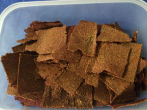 Red Bell Pepper-Beet Flax Crackers